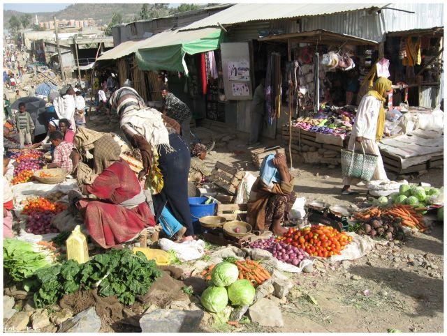 Zdjęcia: Mekele, Etiopia Północna-prow. Tigraj , Targ w Mekele, ETIOPIA