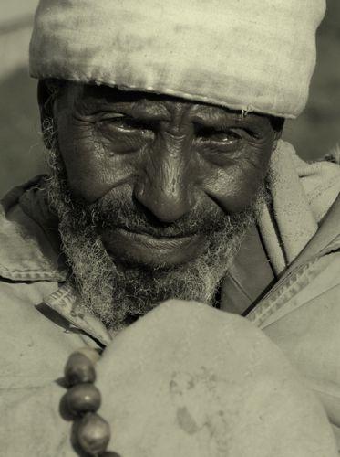 Zdjęcia: Lalibela, Lalibela, starzec z Lalibeli, ETIOPIA