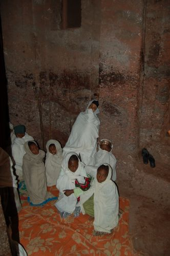 Zdjęcia: Lalibela, w kosciele w Lalibeli, ETIOPIA