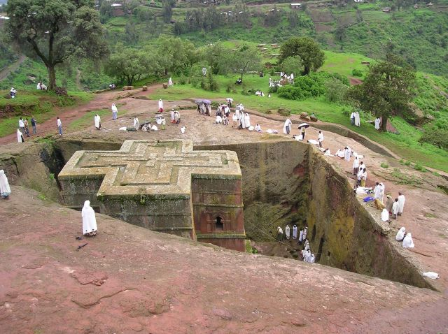 Zdjęcia: Lalibela, kościół wykuty w skale, ETIOPIA