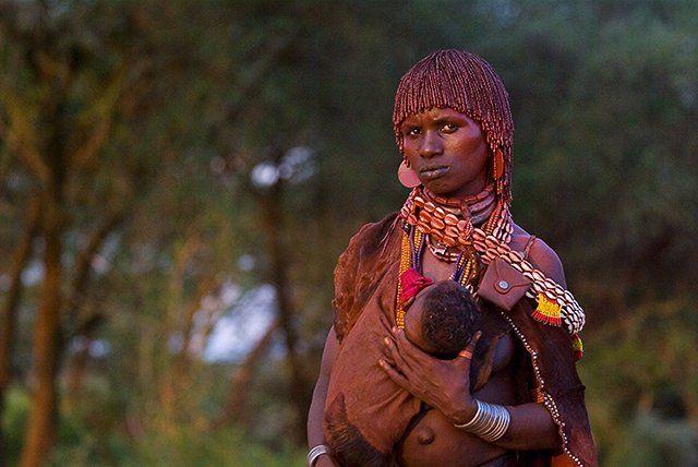 Zdjęcia: Dolina Omo, Pani Hamer :-), ETIOPIA