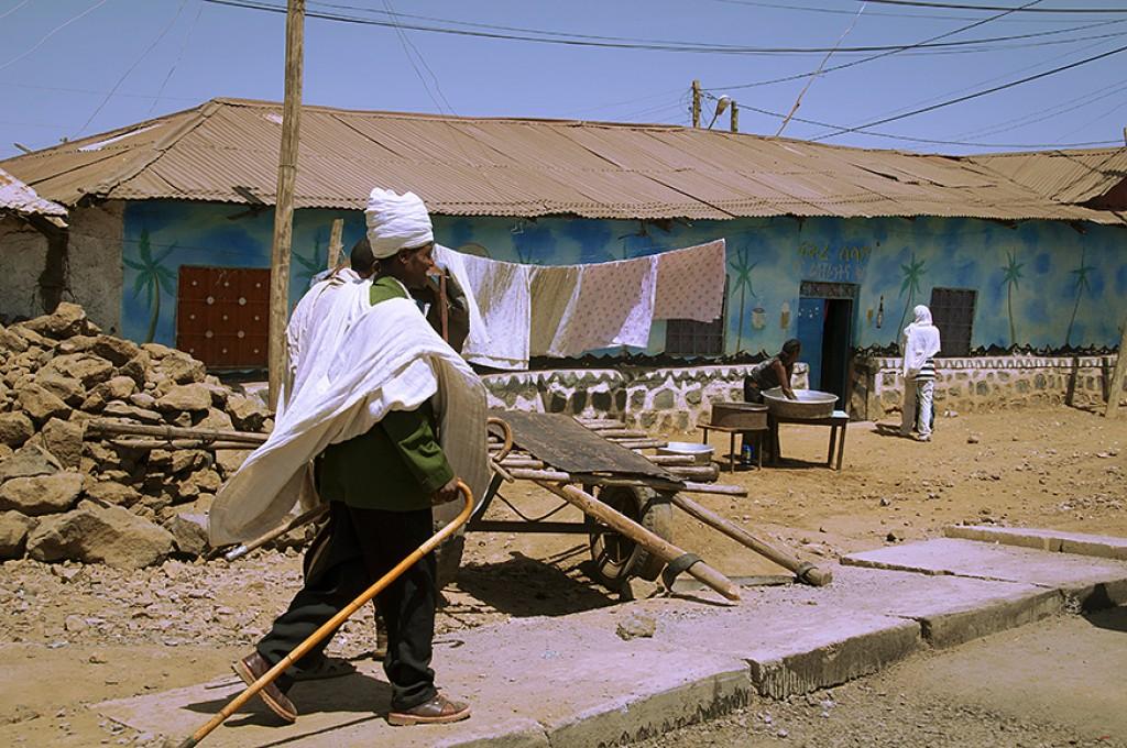 Zdjęcia: Debark, w drodze na targ, ETIOPIA