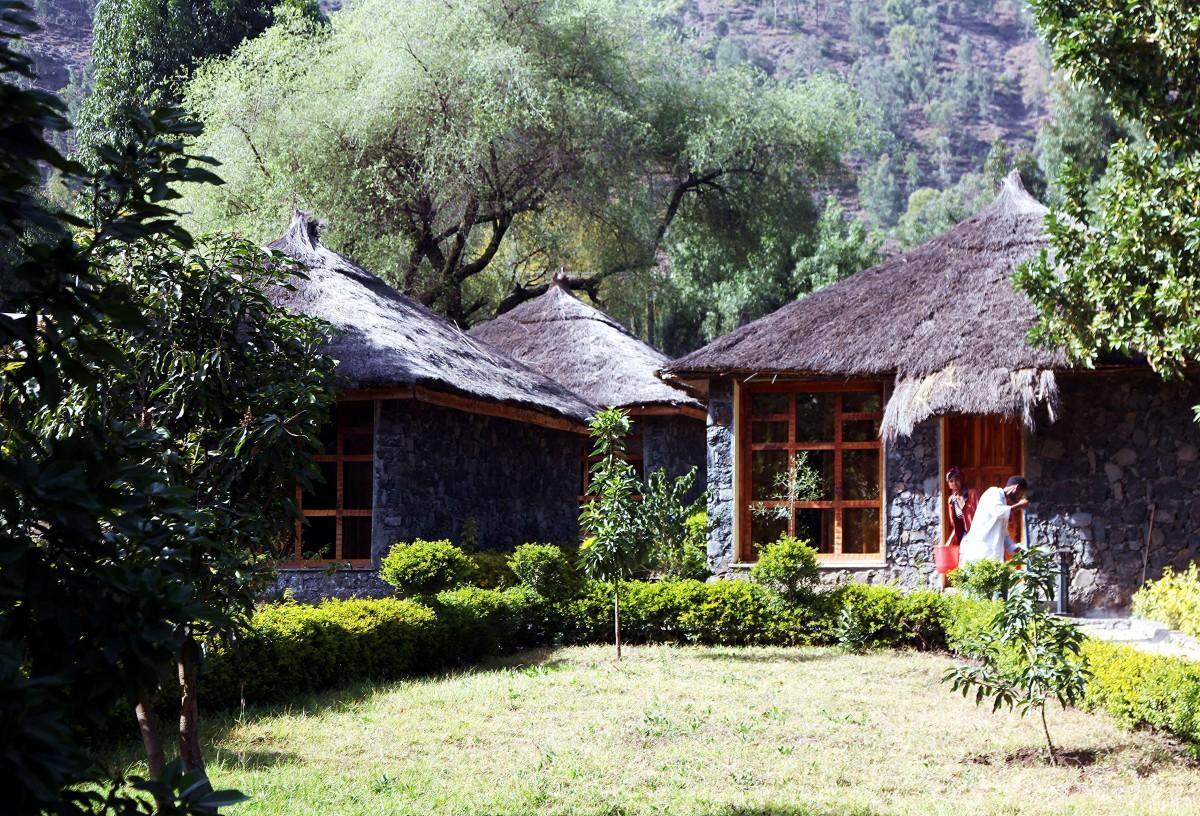 Zdjęcia: Dessie, Amhara, Domki w ogrodzie, ETIOPIA
