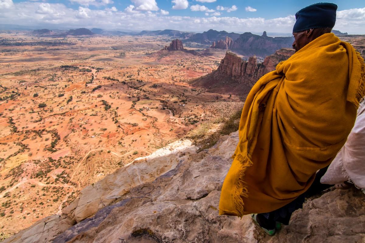 Zdjęcia: Jeden z klasztorów Tigrayu, Tigray, Modlitwa, ETIOPIA