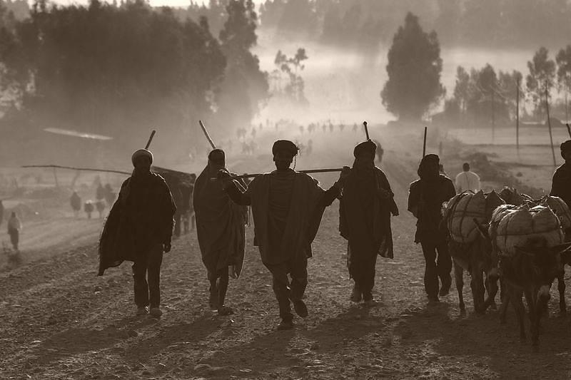 Zdjęcia: Lalibelia, Lalibelia, W drodze do Lalibeli, ETIOPIA