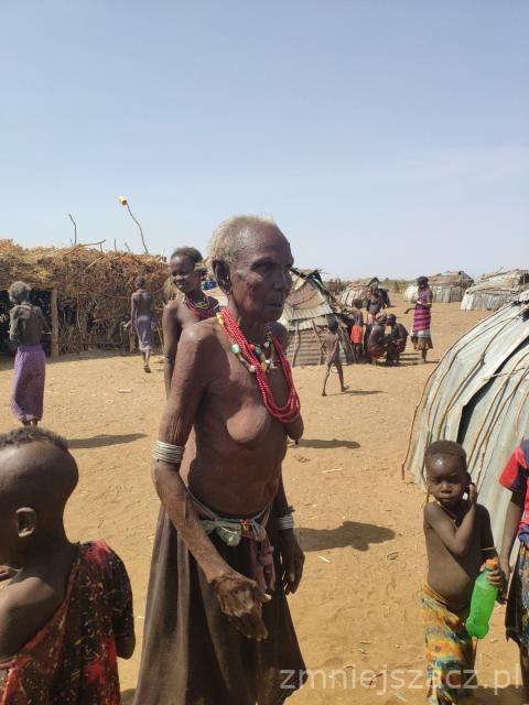 Zdjęcia: Korcho, Dolina Omo, Plemię Karo wioska w dolinie Omo, ETIOPIA