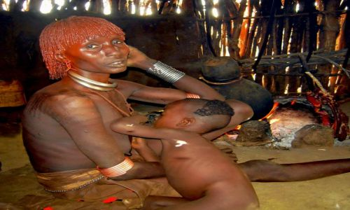 Zdjecie ETIOPIA / Pd. Etiopia / Wioska plemienia Hamer / Konkurs Twarze Świata
