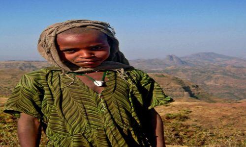 Zdjecie ETIOPIA / pn. Etiopia / Góry Semien / Dziewczynka z gór Semien