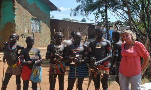 Zdjecie ETIOPIA / Płd Etiopia  / Hamerowie / Chłopcy z plemiania Hamerów