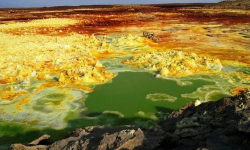 Zdjecie ETIOPIA / Afar / Dallol / Ręką Natury malowane