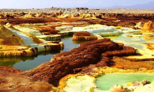 Zdjecie ETIOPIA / Afar / Dallol / Solankowe basen