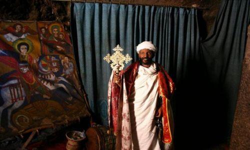 ETIOPIA / Ololice Bahir Dar / klasztor Ura Kidane Mehret / Klasztor Chrześcijański z XIVw.