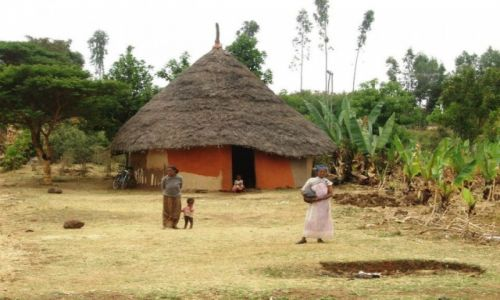 Zdjecie ETIOPIA / Arba Minch / Gdzies w drodze / Etiopska wioska