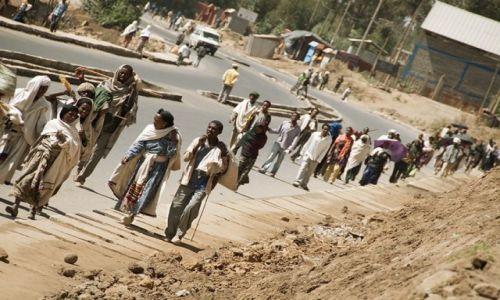 Zdjęcie ETIOPIA / - / Debark / w drodze