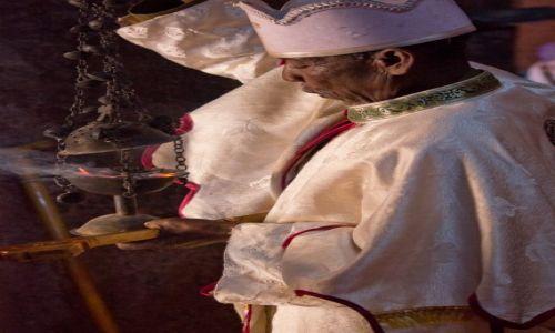ETIOPIA / Lalibela / kościół św. Jerzego / Przygotowania