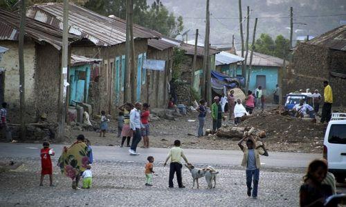 Zdjecie ETIOPIA / - / Gonder / zmierzch w Gonderze