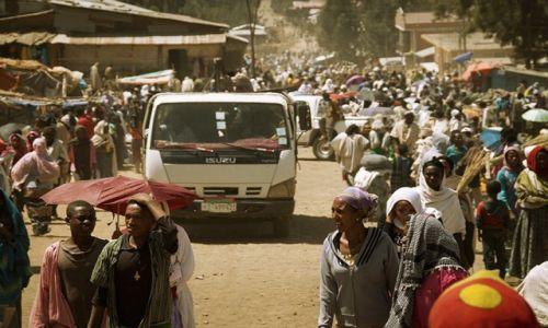 Zdjęcie ETIOPIA / - / Debark / kurz i pył
