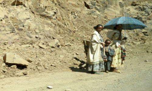 Zdjecie ETIOPIA / Okolice Gonder / Na trasie / Piechurzy