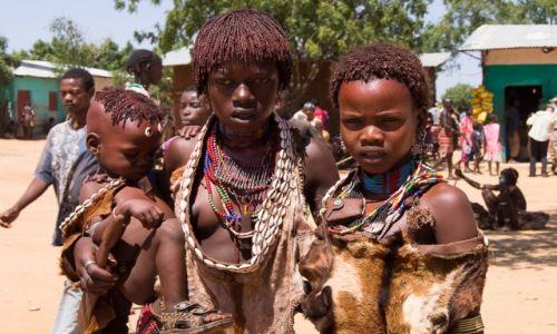 Zdjecie ETIOPIA / Dolina Omo / Turmi / Hamerskie dziewczyny