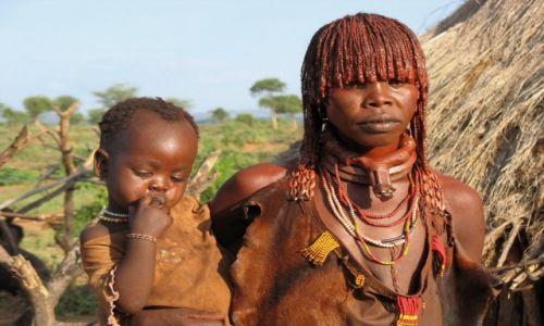 Zdjecie ETIOPIA / - / Dolina OMO, wioska Hamarów / Etiopki są pięk