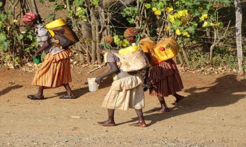 ETIOPIA / w drodze na Po�udnie / droga... / Codzienna w�dr�wka po wod�
