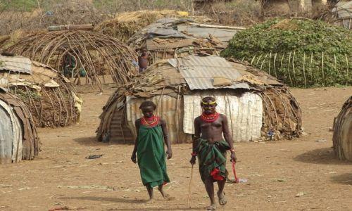 Zdjęcie ETIOPIA / Południe / Wioska ludu  Dassanech / W domach z niczego