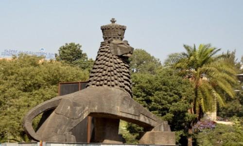 Zdjęcie ETIOPIA / Addis Abeba / stolica / Pomnik Lwa Judy - na cześć cesarza Haile Selassie