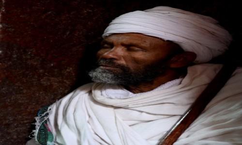 Zdjęcie ETIOPIA / Amhara / Lalibela / Mnich