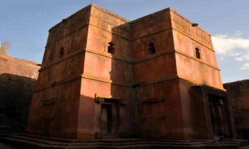 ETIOPIA / Amhara / Lalibela / Kościół Świętego Jerzego