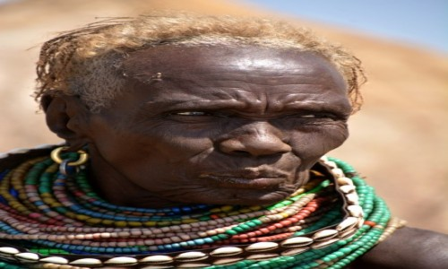 Zdjecie ETIOPIA / Dolina Omo / wioska plemienia Nyangatom / Inny