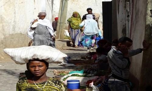 ETIOPIA / Wschodnia Etiopia / Harar / Ulice Hararu
