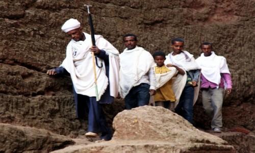 Zdjęcie ETIOPIA / Lalibela / Biete Mariam / Pielgrzymi