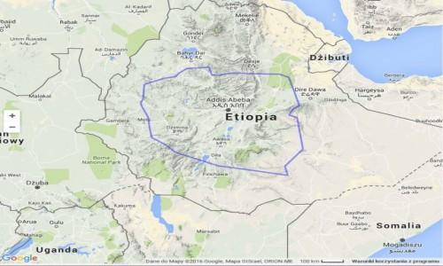 ETIOPIA / ETIOPIA / CAŁA ETHIOPIA / POLSKA NA TLE ETIOPII
