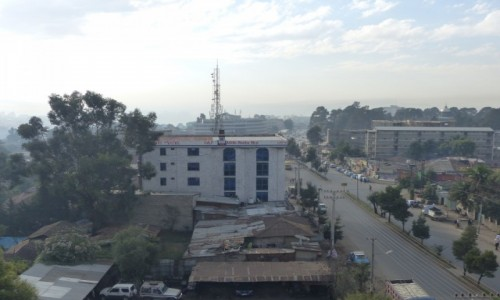 ETIOPIA / STOLICA / Addis Abbaba / Addis Abbaba z okna hotelu