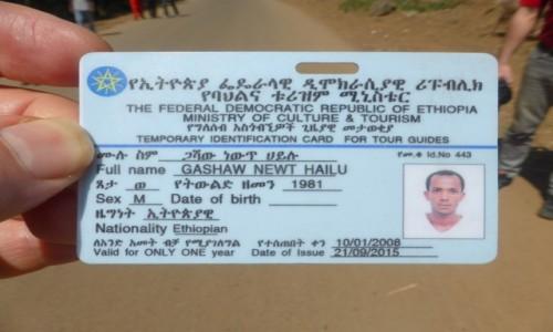 Zdjęcie ETIOPIA / STOLICA / Addis Abbaba / GASHAW - PRZYJACIEL Z KWALIFIKACJAMI