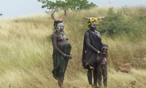 Zdjęcie ETIOPIA / Dolina Omo / WIOSKA MURSI / Mursi