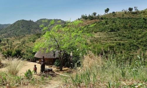 ETIOPIA / Po�udnie / gdzie� po drodze / Chatka w�r�d taras�w
