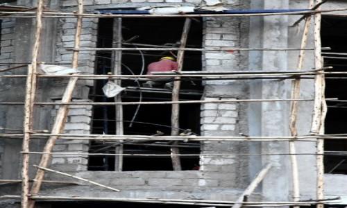 Zdjęcie ETIOPIA / Addis Abeba / Centrum miasta / Na budowie