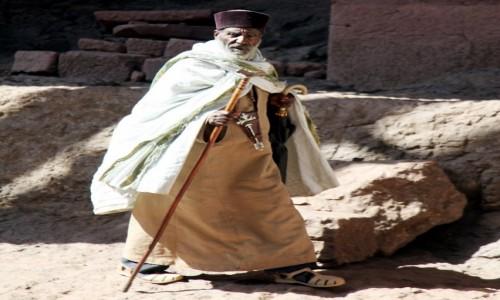 Zdjęcie ETIOPIA /  Amhara / Lalibela  / Etiopski duchowny