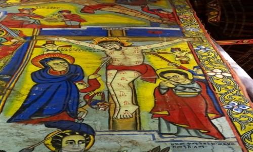 Zdjecie ETIOPIA / Jezioro Tana / Półwysep Zege- monastyr Ura Kidame Meheret / Ukrzyżowanie