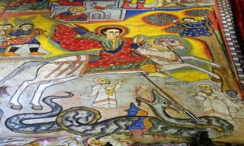 Zdjecie ETIOPIA / Jezioro Tana / P�wysep Zege- monastyr Ura Kidame Meheret / �w. Jerzy