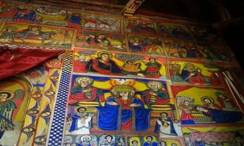 Zdjecie ETIOPIA / Jezioro Tana / Półwysep Zege- monastyr Ura Kidame Meheret / Malowidła