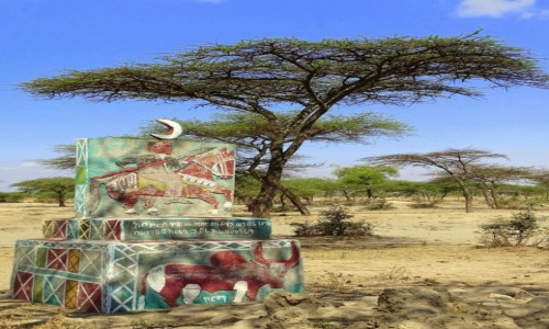 Zdjecie ETIOPIA / środkowa Etiopia / - / Przydrożny...