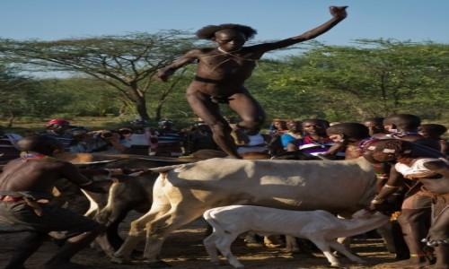 ETIOPIA / Dolina Omo / wioska Hamerów / Inicjacja u Hamerów
