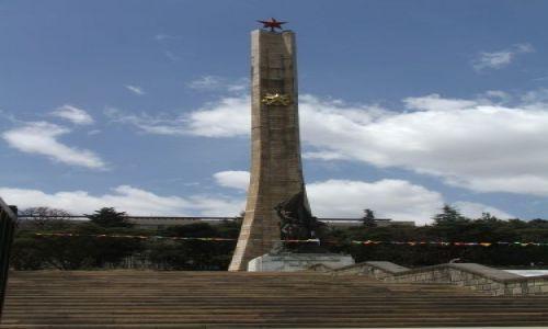 ETIOPIA / Addis Ababa / Addis Ababa / Pomnik przyjaźni Etiopsko- Kubańskiej:-)