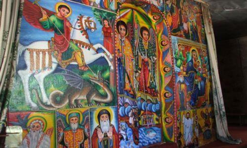 ETIOPIA / Bahir Dar / wyspy na jeziorze Tana / Malowidła w monastyrach