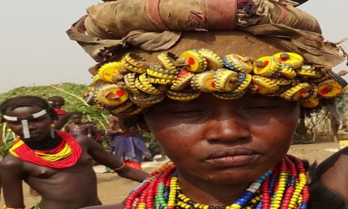 Zdjecie ETIOPIA / Dolina Omo / tereny plemienia Dassanech / Pani Dassanech