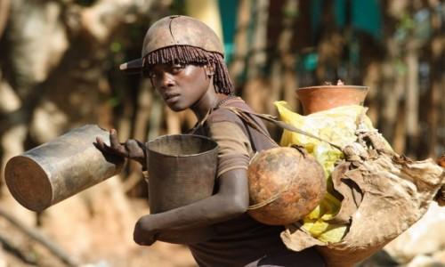 ETIOPIA / Etiopia / targowisko / Targ w Dimece
