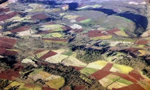 ETIOPIA / Teren północnej Etiopii / Gdzieś po drodze... / Z lotu ptaka