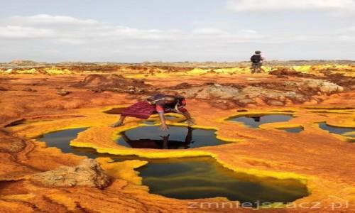 Zdjecie ETIOPIA / Pustynia Danakilska / siarkowe źródła / Siarkowe źródla